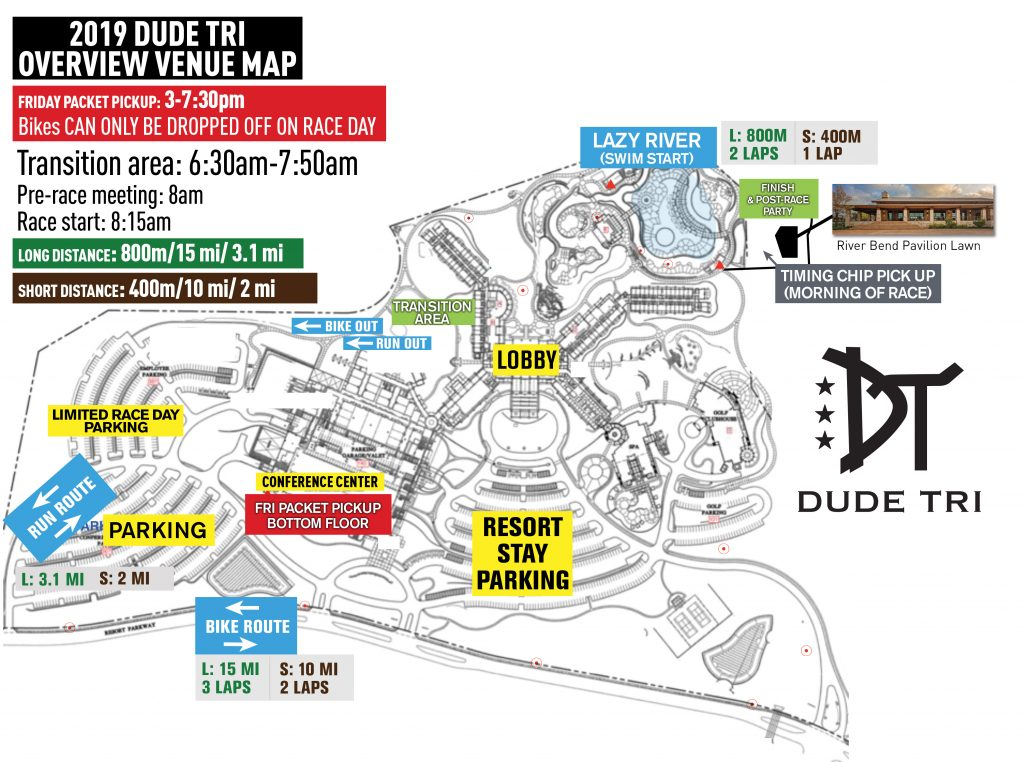 Dude Tri overview map